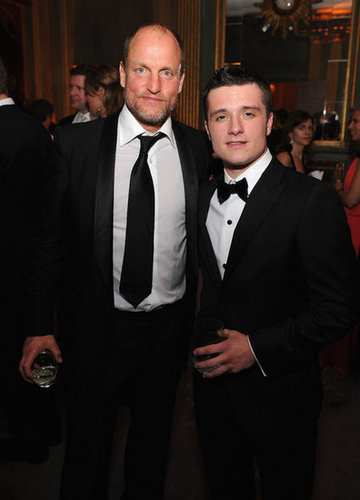 Woody Harrelson and Josh Hutcherson posed together at the White House Correspondant's Dinner.