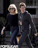 Emma Stone and Andrew Garfield were all smiles as they took a stroll in NYC.
