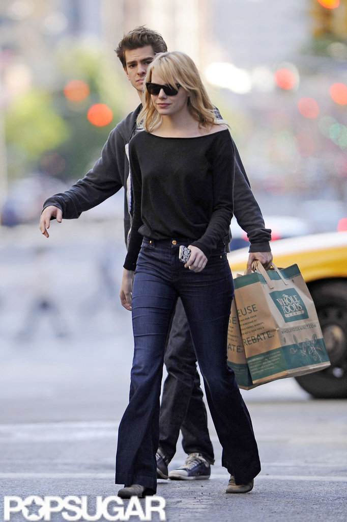 Emma Stone and Andrew Garfield took a trip to Whole Foods in NYC.
