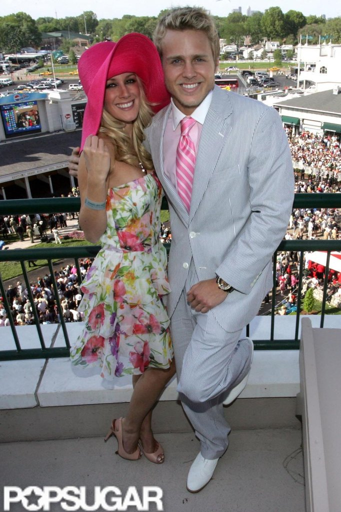 Heidi Montag and Spencer Pratt cozied up at Churchill Downs in 2008.