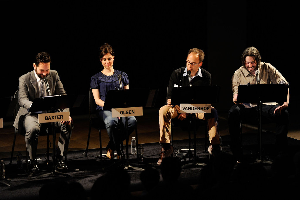 Paul Rudd, Cara Buono, David Wain, and Jason Reitman linked up for a live reading of  The Apartment in NYC.