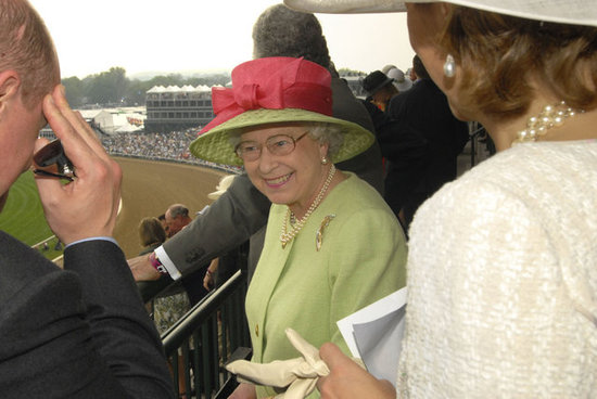 The queen visited Churchill Downs for the 133rd Kentucky Derby in 2007.