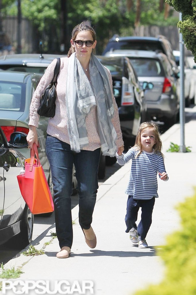 Jennifer Garner and Seraphina Affleck were hand-in-hand on their way to pick up Violet Affleck from LA.