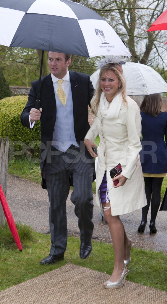 Holly Brandon arrived for Hannah Gillingham and Robert Carter's wedding.