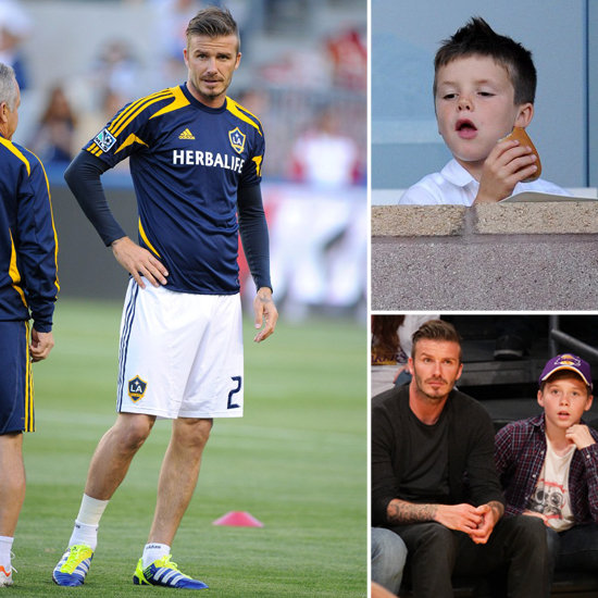 David Has a Sporty Weekend With the Boys Following Victoria's Return From Asia