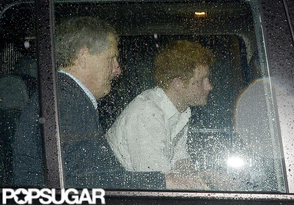 Prince Harry headed to a London club.