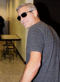 George Clooney wore sunglasses.