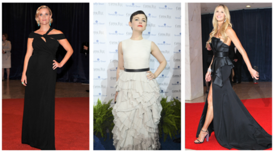 Trend Alert: Black and White Gowns at the White House Correspondents' Dinner