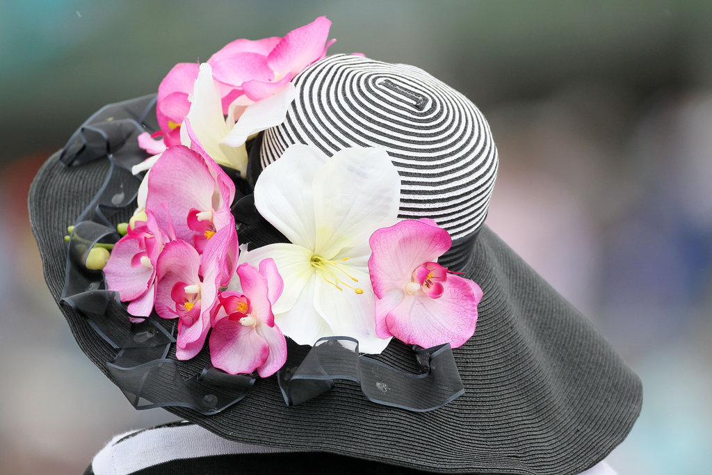This hat paired stripes and flowers in 2010.