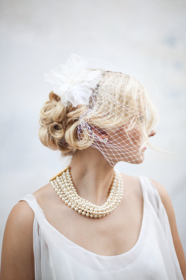 Birdcage Veil and Pearls