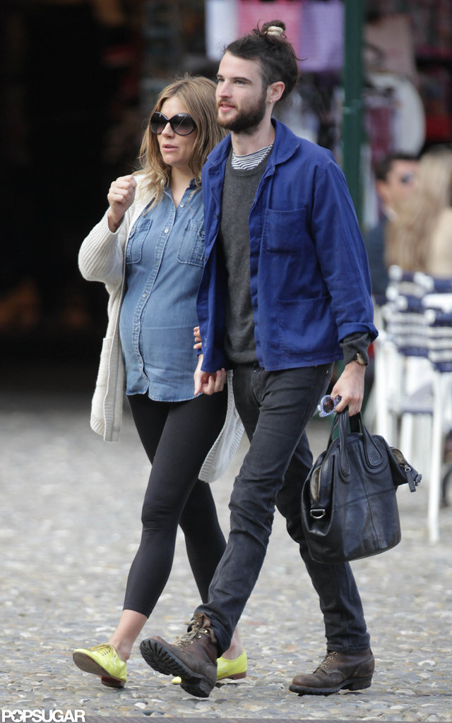 Sienna Miller and Tom Sturridge took a stroll while vacationing in Italy.