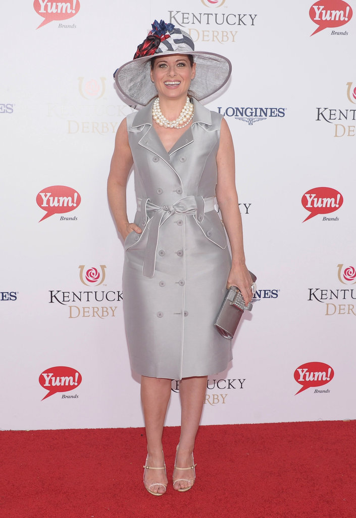 Debra Messing at the Kentucky Derby.