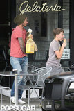 David Beckham and Brooklyn Beckham  stopped for gelato.
