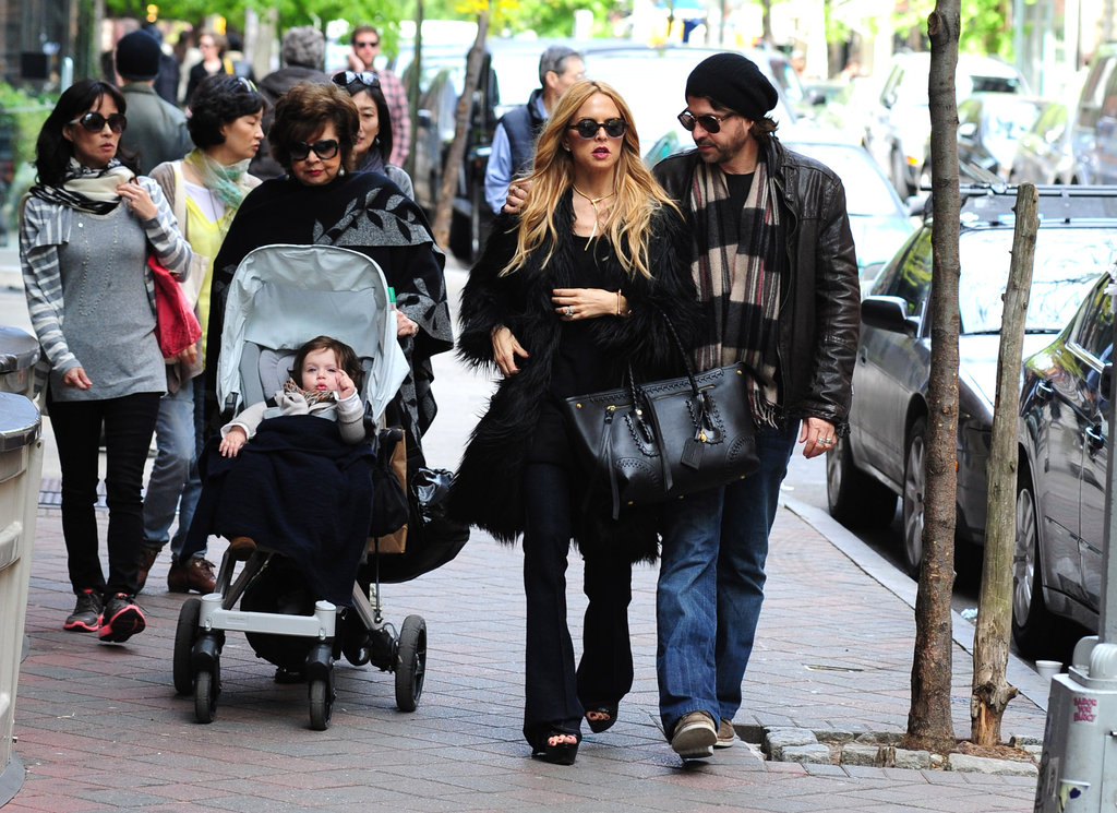 Rachel Zoe and her family took a walk through SoHo in NYC.