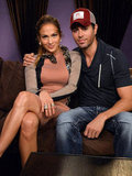 Jennifer Lopez posed with Enrique Iglesias at a press conference to announce their tour.