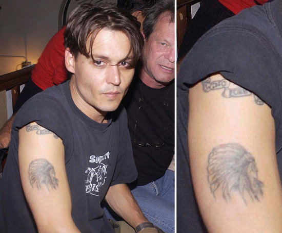 "Johnny Depp showed the world his love for Winona Ryder by getting ""Winona Forever"" tattooed on his right arm in 1989. After their split he had it altered to say ""Wino Forever."""
