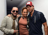 Jennifer Lopez was with Yandel and Enrique Iglesias to announce their tour.