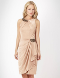No. 1 by Jenny Packham Light Gold Waterfall Dress ($146)