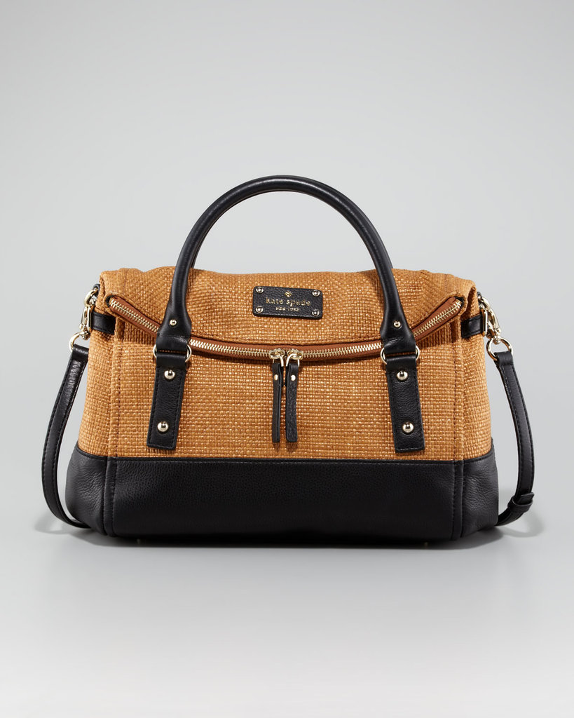 Straw gets a structured update with this chic, summery satchel.  Kate Spade New York Leslie Cobble Hill Straw Handbag ($328)