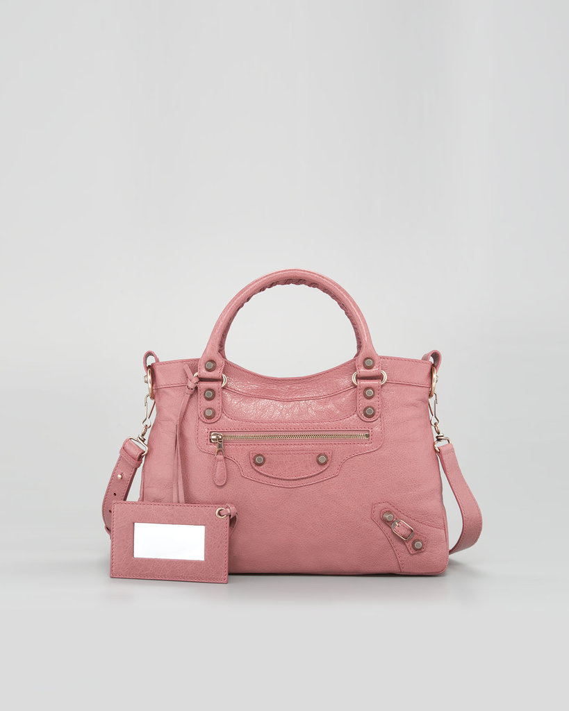 Rose-gold hardware against rose-colored leather — could it be more ladylike? Balenciaga Giant 12 Rose Golden Town Bag ($1,795)