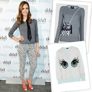 Jessica Alba in Alice and Olivia Sweater at FABB Event