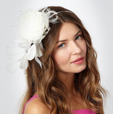 No. 1 by Jenny Packham Feathered Rose Headband ($62)