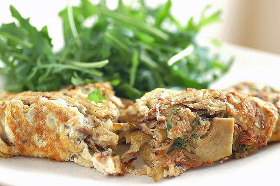 Artichoke Omelet With Anchovies