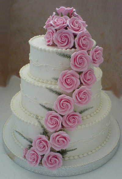 Simple Wedding Cakes on Wedding Cake Designs  Pink Wedding Cake Ideas  Pink Wedding Cake