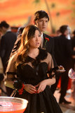 Jenna Ushkowitz and Harry Shum Jr. in Glee.  Photo courtesy of Fox