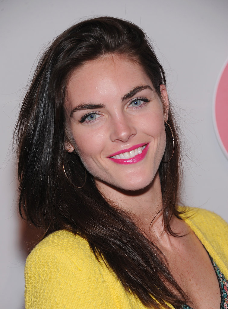 Hilary Rhoda wore pink lips to The Shops at Target launch party in NYC.