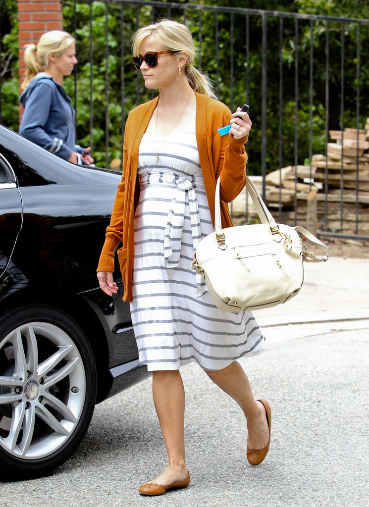 Reese Witherspoon wore a sweater and flats in the Bel Air neighborhood.