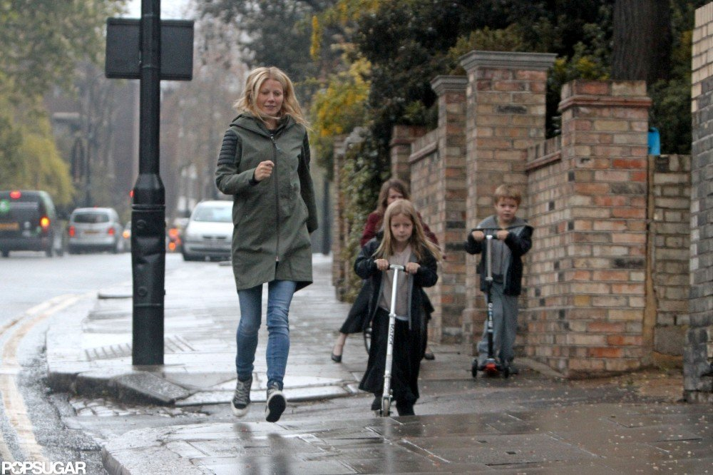 Gwyneth Paltrow was out and about with Apple Martin and Moses Martin.