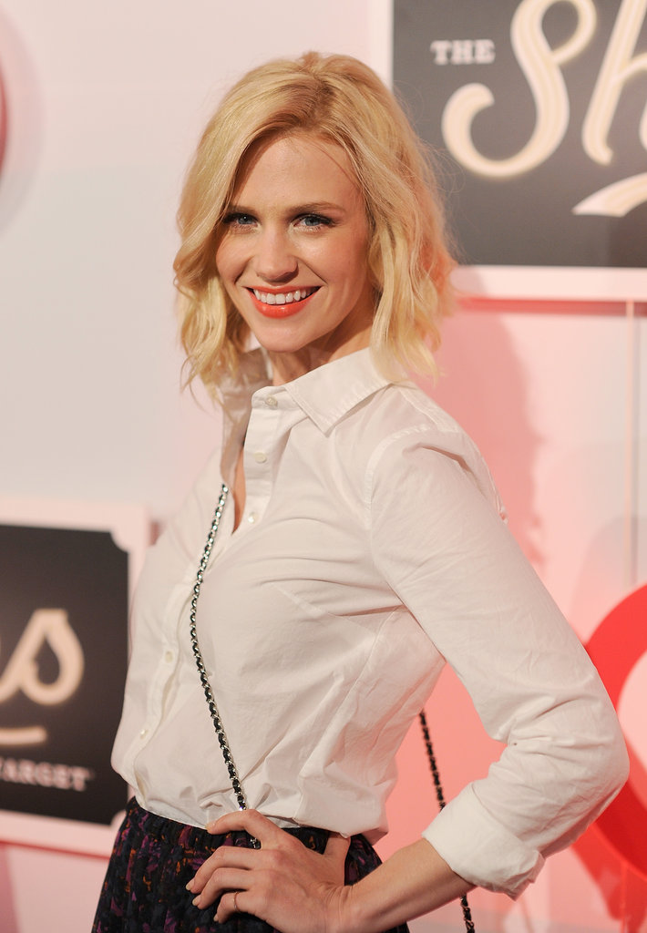 January Jones struck a pose at The Shops at Target launch party in NYC.