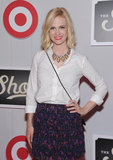 January Jones attended The Shops at Target launch party in NYC.