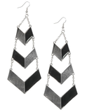 Wet Seal Two-Tone Chevron Earrings ($8)