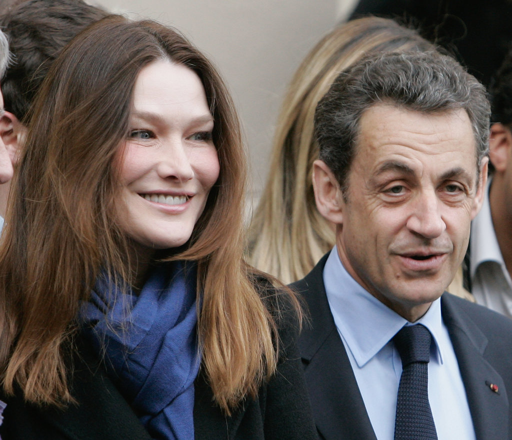 Carla Bruni-Sarkozy campaigned with her husband last month.