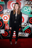 Strappy glitter platform sandals provided much-needed pizazz to Nina's all-black ensemble at Target's Go International party.  6820304