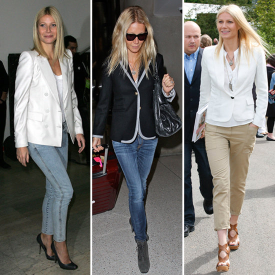 Copy Gwyneth Paltrow's Signature Street-Style Formula: Blazers + Pants