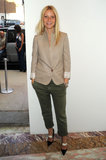 At a Stella McCartney bash, Gwyneth posed cool in a beige blazer with green cargo trousers.  Get Gwyneth's cargo look below.  6823340
