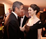 George Clooney and Rachel Weisz were face to face at the 2006 Oscars in LA.