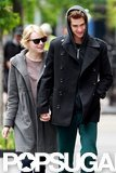 Emma Stone and Andrew Garfield smiled and laughed after they had lunch in their NYC neighborhood.