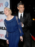 Renée Zellweger was the object of George Clooney's affection at the March 2008 premiere of Leatherheads in LA.