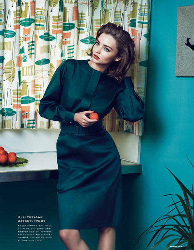 Miranda Kerr got in front of the camera for Numéro Tokyo magazine.