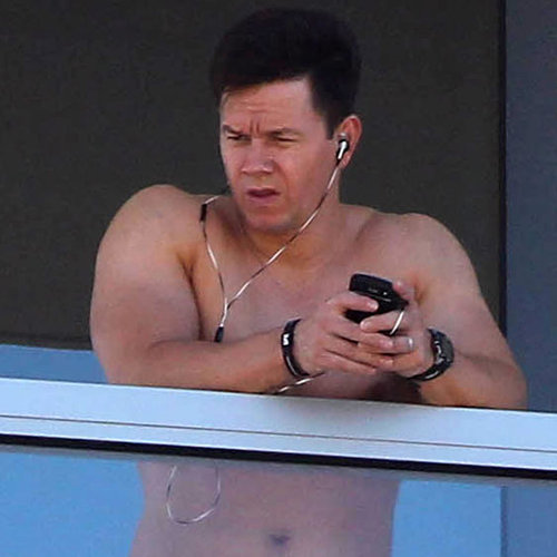 Mark Wahlberg Shirtless Pictures on Hotel Balcony