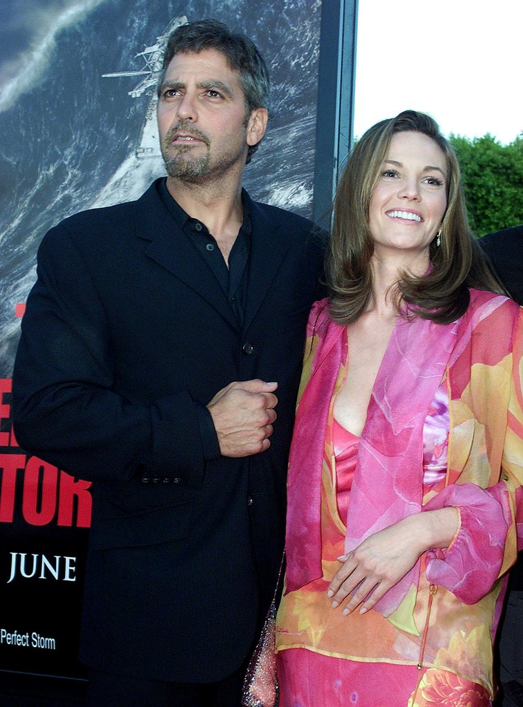 George Clooney and Diane Lane got together for the June 2000 premiere of The Perfect Storm in LA.