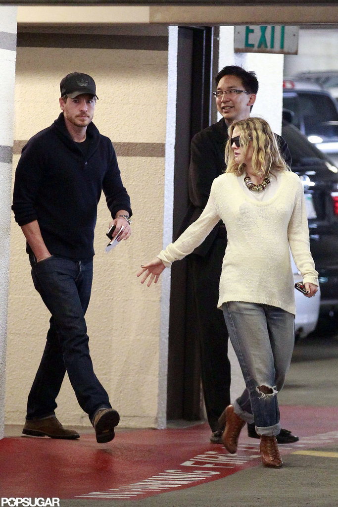 Drew Barrymore and Will Kopelman walked together.