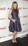 Chloe Moretz brought the retro-inspired silhouette to CinemaCon with a fit-and-flare Kenzo frock.