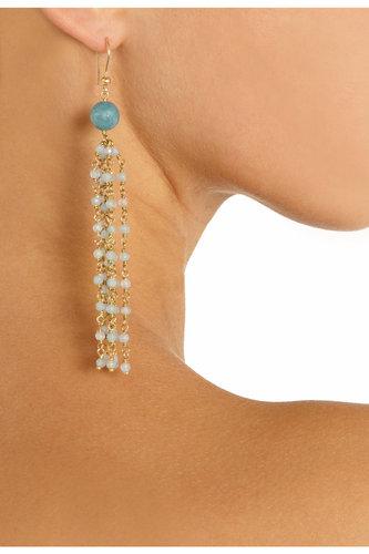 Rosantica Magnifico 24-karat gold-dipped angelite earrings NET-A-PORTER.COM