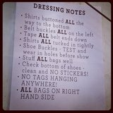 Strict rules backstage at Oroton.