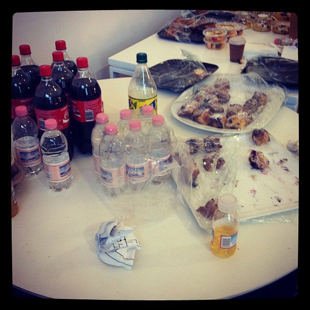 Backstage snacks at Zimmermann.
